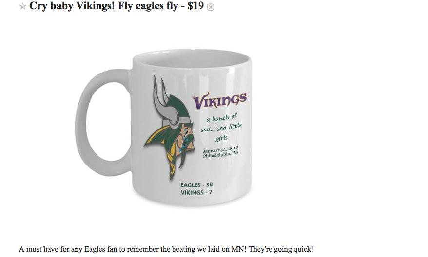 super popular dfbd2 a8092 Ridiculous Eagles Memorabilia For Sale Before the Super Bowl ...
